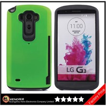 Keno Factory Radiation Proof Case for LG G3, Slim Fit Dual Layer Protective with Card Slot Holder Wallet Case for LG G3