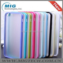 """TPU bumper and matte transparent PC back phone cover for iphone 6 4.7"""", Mobile phone Case for iphone 6 10 colors"""