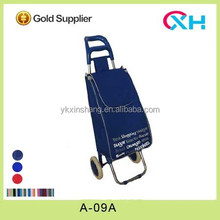New style foldable Compact Oxford Fabric/ Satin Shopping Trolley Shopping cart A-09 Steel