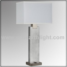 UL Approved Silver Color Square Hotel Bedside Lamp Modern Table Lamp/(T20303)