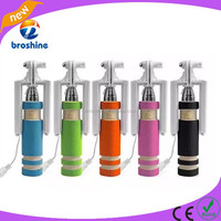 2015 wholesale new wired mini selfie stick,wired selfie stick mini