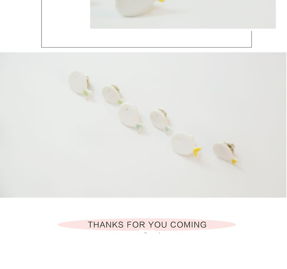 porcelain fisn pin hand-made fashion brooch wholesale brooch for wedding dress shoulder accessory
