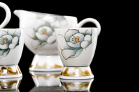 Environmental protection and health tableware Hand Painted Underglaze porcelain antique japanese china tea set