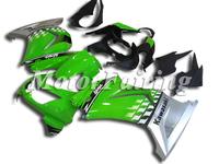 Ninja250R Fairing Kit for KAWASAKI Ninja 250R EX 250 2008 2009 2010 2011 EX250 08 09 10 11 08-11 green silver