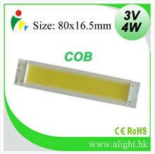 Chinese LED manufacturer offers high power COB LED 4W 3V LED Chips