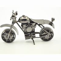 Quality Products Cool Desktop Iron Motorbike Model, Iron Motorbike Craft Best For Birthday Gifts