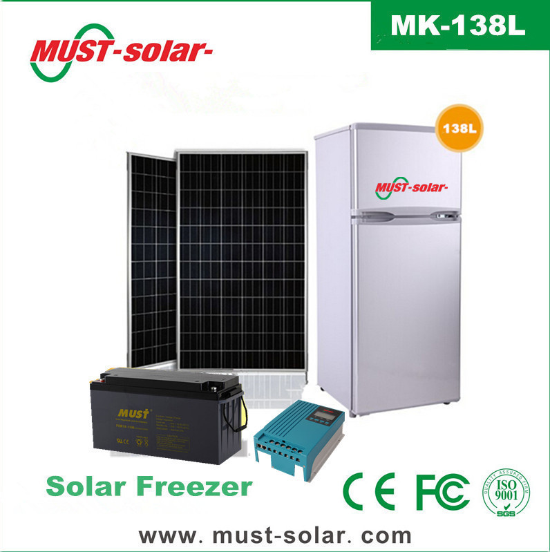 12v dc 230v ac solar panel charging solar freezer 138l for. Black Bedroom Furniture Sets. Home Design Ideas