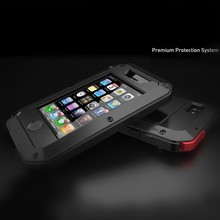 For iphone 4 4s Aluminum Cases Waterproof Shockproof Cosmetic Case Cover for iphone 4 4s