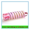 Pink zipper round Pen Bag/ Cosmetic bag/Stationery Bag