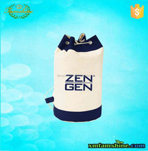 fashion customized cotton canvas duffle bag