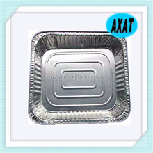 Disposable Rectangular Food Packing Airline Aluminum Foil Container With Lid/supply free sample
