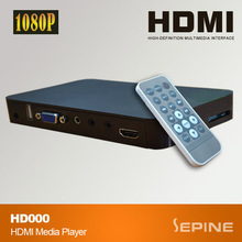 China full hdmi 1080p media player composite output /media player multiple output