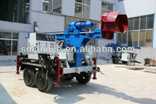 DTH and rotary trailer Water Well Drilling equipment SLY400-T for sale