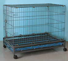 Pet Puppy Carrier Dog Cage Kennel Folding Portable Tray 6082