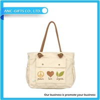 promotional cheap 2014 new design fashion tote bag canvas