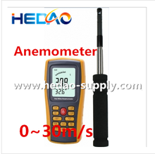 Digital Wind Speed Temperature Measure Gauge Anemometer Weather Instruments