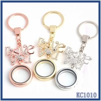 high quality cheap wholesale digital photo frame eco-friendly metal top fashion coin round open locket keychain