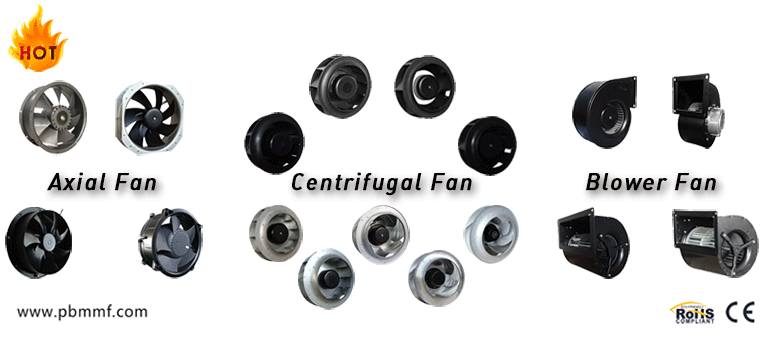 254*89mm EC-DC Input Axial fan with 72 Motor