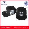 oem flat brim black custom embroidered snapback hats wholesale
