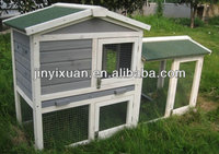 Grey Color Wooden Flat Pack Chicken House / Large Chicken Coop Run