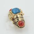 Estilo de la india piedranatural dos anillo del dedo, dos anillos de piedra los diseños