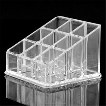 Acrylic Lipstick Organizer with 9 Spaces, perspex makeup display box