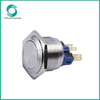 IP67 22mm momentary or latching Illuminated or Non-Illuminated 2NO2NC 6 pin waterproof push button switch