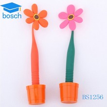 Silicone promotional flower ball pen with pot