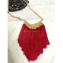 2015 fashion charm lady women accessories necklaces pendant with tassel