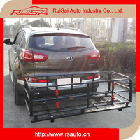 Hitch mounted folding cargo carrier, Off Road camping car 4x4 accessories