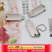 Metal material otg usb for Android mobile phone,32gb mini swivel usb drive Manufacturer &supplier&exporters