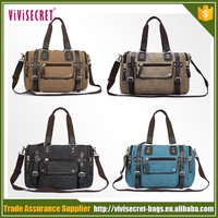 Customized Traveler Big Capacity Casual Canvas Messenger Bag For Men
