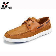 Trendy and popular leather lace-up loafer shoes for men