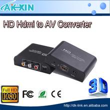 HDMI to Composite AV Universal Converter for PAL & NTSC Standard TV HDMI to AV Converter Metal Case