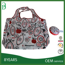 foldable bags in shopping,polyester bag with printing logo