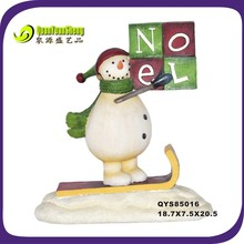 resin snowman christmas ornament with height 20.5cm