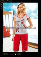 pajama sleepwear, women in sleepwear, ozkan underwear