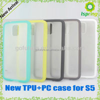 Cute colors ,transeprant PC surface and colorful sides, for samsung galaxy s5 case