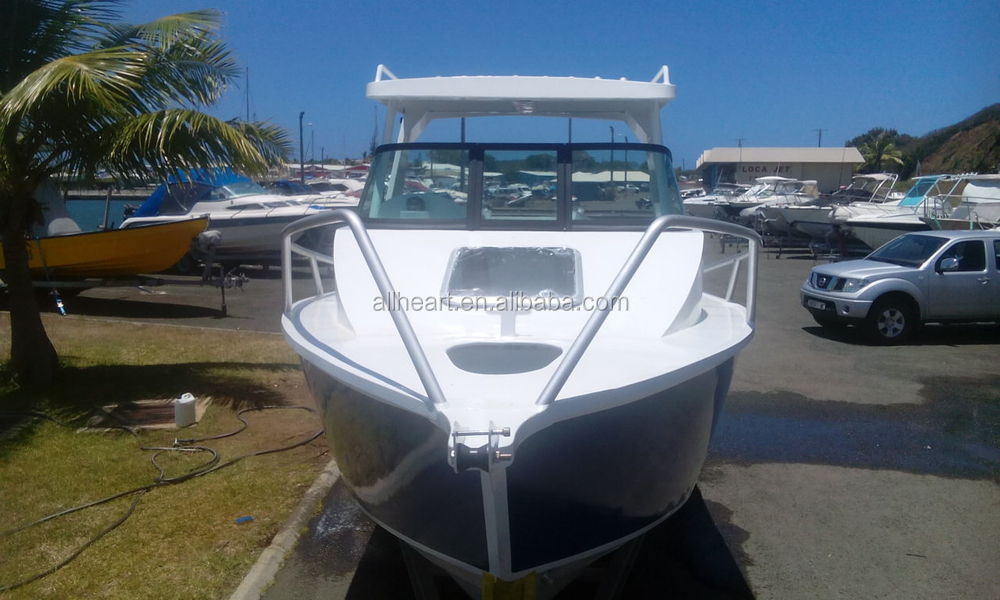 21ft aluminum material cuddy cabin boat for sale view for Aluminum boat with cabin for sale