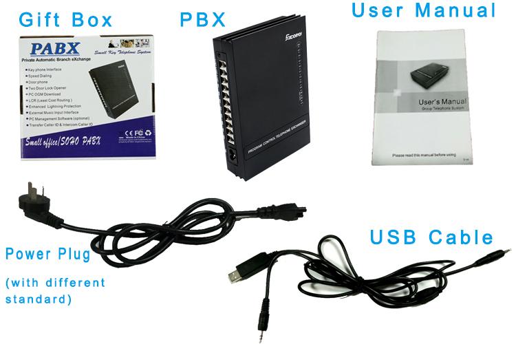 MK308 Hybrid Key telephone PABX PBX System PBX