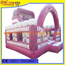 Kule inflatable jumping bouncy castle with slide for playground equipment