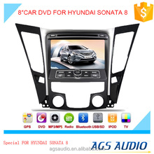 AGS special 8'' touch screen car dvd player for HYUNDAI SONATA 8