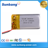 Good quality& best price 150mah lithium polymer rechargeable battery 3.7v 150mah 402025 for digital device