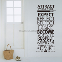 ZOOYOO attract what you expect wall art stickers good style wall decors new popular vinyl production (8246)