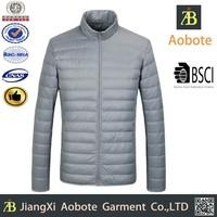 2015 Fashion Design Waterproof Ultra Light Foldable Men Down Jacket For Winter