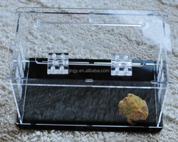 eco-friendly clear rectangle acrylic frog organic box