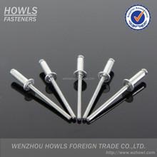 DIN7337 Aluminium steel open end CSK head blind rivet 2.4 3.0 4.0 4.8 5.0 6.0 6.4