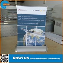Table top displays retractable stands 1 foot mini roll up banner