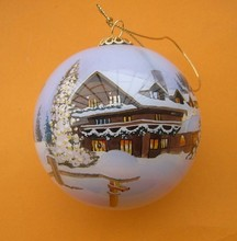 hanging inside hand-painted glass ball