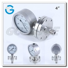 High quality 4 inch all stainless steel absolute pressure gauge with diaphragm seal